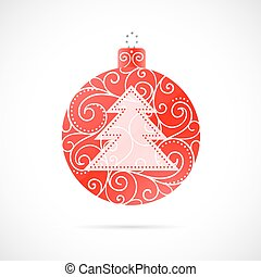 Christmas tree decoration as symbol for winter holidays
