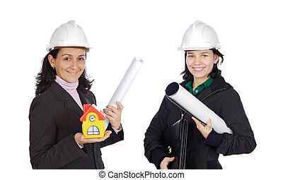 equipe, Arquitetos, mulheres