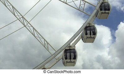 Wheel of BrisbaneIts 42 capsules providing a total passenger...