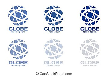 Abstract earth logo Globe logo icon - Globe logo Globe icon...
