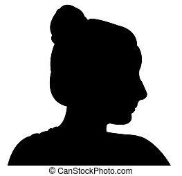 a cute girl silhouette