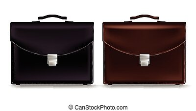 Set of Realistic Briefcase