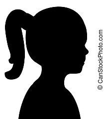 a cute girl silhouette