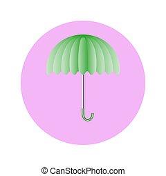 umbrella in circle