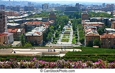 View of Yerevan from Cascade. - View of Yerevan from...