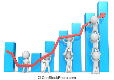 Business Growth and Success. - Dude 3D characters X7...