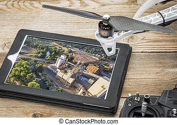 写真撮影, 概念, 航空写真, 無人機
