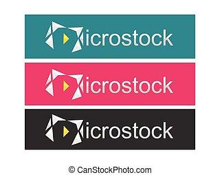 microstock logo icon design vector - microstock logo icon...