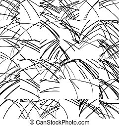 Wavy lines repeatable pattern Black and white vector...