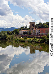 Reflection in the Fiume Arno - Piazza Giuseppe Pozzi...
