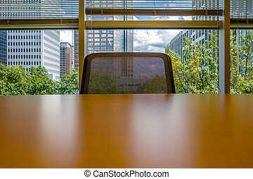 office table and chair across in corporate office