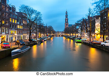 West Church cathedral in Amsterdam - Westerkerk, West Church...