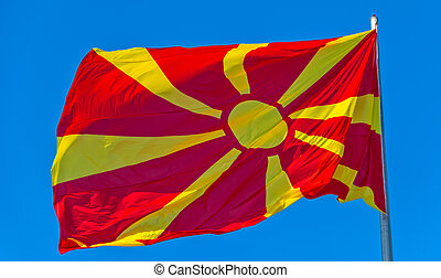 Flag of Macedonia - The current flag of Macedonia against...