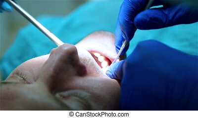 Dentist removes tooth Healthcare dentistry medicine concept