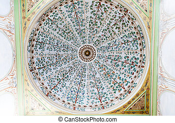 Topkapi Palace - Dome of a Room in Topkapi Palace, Istanbul,...