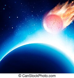 Scenic view of armageddon. Vector illustration - View from...
