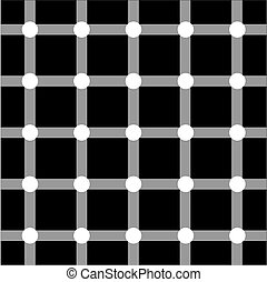 Optical art series: Grid - Optical art grid in black and...