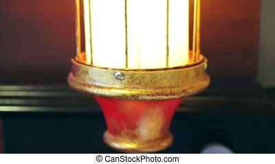 oriental lantern with red and gold colour lamp design