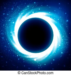Black Hole in Outer Space. Distant Galaxy - Black hole or...