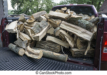Firewood Ready To Be Unloaded - Firewood ready to be unoaded...