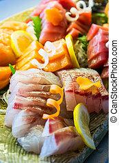 Sashimi set,fresh fish japanes food