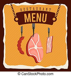 butchery menu design, vector illustration eps10 graphic