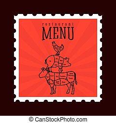 butchery menu design, vector illustration eps10 graphic