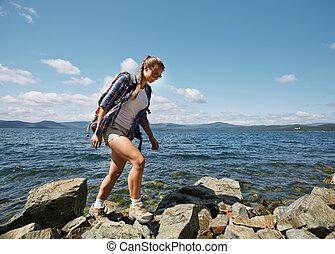Walk on rocks