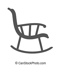 Rocking Chair - Chair, rocking, furniture icon vector...