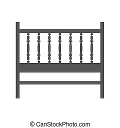 Baby Cot - Cot, baby, bed icon vector imageCan also be used...
