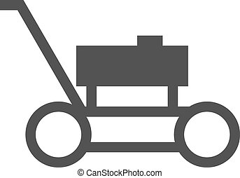 Lawn Mower - Lawn, mower, landscaping icon vector imageCan...