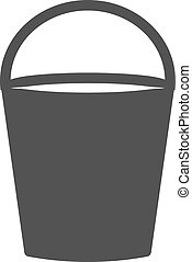Water Bucket - Bucket, water, tin icon vector image.Can also...