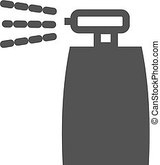 Spray bottle - Bottle, spray, insecticide icon vector...
