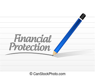 Financial Protection message sign concept