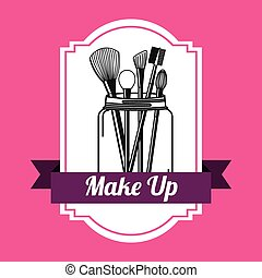 make up design, vector illustration eps10 graphic