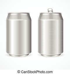 Aluminum Cans. Vector