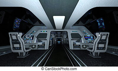 Cockpit - Image of space ship cockpit