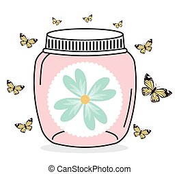 mason jar design, vector illustration eps10 graphic