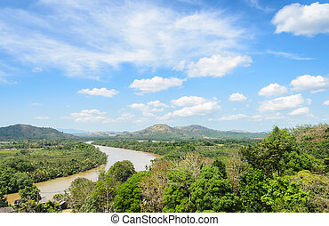 Aerial view of Kra Isthmus - Aerial nature view of Kho Khot...