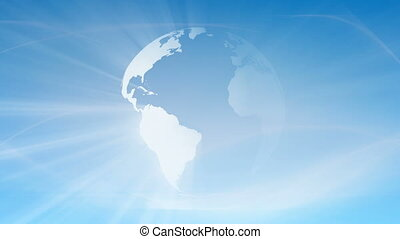 Loopable Earth Globe Background - Loopable Earth globe...