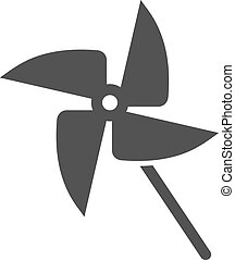 Toy Fan - Fan, propeller, toy icon vector imageCan also be...