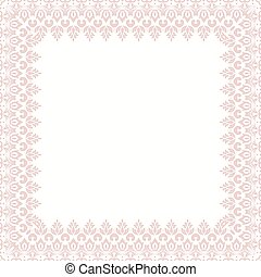 Floral Modern Vector Frame - Oriental vector abstract frame...