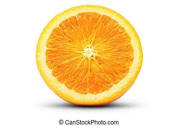 Perfect slice of orange