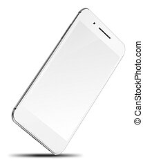 Mobile smart phone isolated on white.