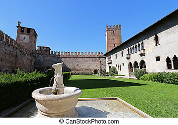 Castelvecchio Museum in Verona - An ancient A bull-headed...