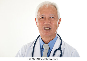 portrait of chinse senior doctor