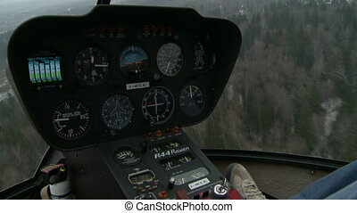 Close-up of navigation dashboard helicopter - View of...