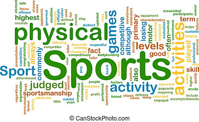 Sports activities background concept