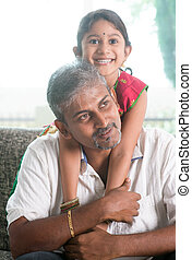 Indian father and daughter