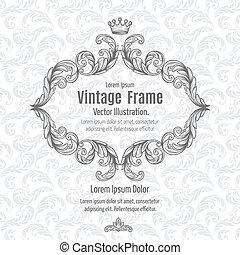 Vintage Frame - Frame acanthus vintage signage renaissance...